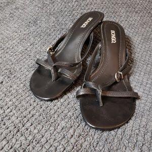 Black slip-on Heels